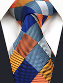 cheap Men's Ties & Bow Ties-Men's Party / Work Necktie - Color Block / Check / Jacquard