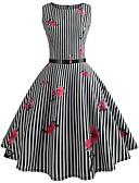 cheap Women's Dresses-Women's Going out Vintage Cotton Slim Swing Dress - Floral Print / Spring / Summer