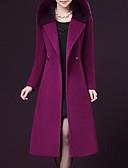 cheap Women's Coats & Trench Coats-Women's Plus Size Coat - Solid Colored Peter Pan Collar