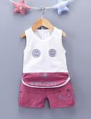 povoljno Kompletići za dječake-Dječaci Print Bez rukávů Komplet odjeće