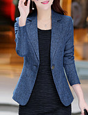 cheap Women's Blazers & Jackets-Women's Work Basic Street chic Plus Size Blazer - Solid Colored