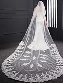 זול הינומות חתונה-שתי שכבות שכבה כפולה הינומות חתונה צעיפי קפלה עם ריקמה טול / קלאסי