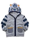 preiswerte Jacken & Mäntel für Jungen-Baby Jungen Aktiv Alltag / Ausgehen Solide / Gestreift / Druck Langarm Standard Baumwolle / Acryl Anzug & Blazer Grau / Niedlich