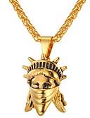 זול טרנינגים וקפוצ'ונים לגברים-שרשראות תליון - אופנתי זהב, כסף 55 cm שרשראות תכשיטים עבור יומי