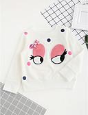 tanie Bluzy dla dziewczynek-Dzieci Dla dziewczynek Kwiaty Haft Nadruk Rękaw 3/4 Bawełna T-shirt