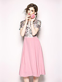 cheap Women's Dresses-Women's Vintage / Street chic A Line / Swing Dress - Floral / Geometric Lace / Ruched / Tassel