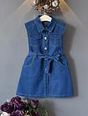cheap Men's Shirts-Kids Girls' Solid Colored Sleeveless Dress
