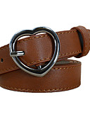 cheap Women's Belt-Women's Work / Basic Leather / Alloy Skinny Belt