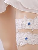 hesapli Çiçekçi Kız Elbiseleri-Değerli Taş / Dantelalar Eski Tip Tarz Düğün tokmak  -  Gore Jartiyerler Düğün / Parti ve Gece