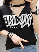 olcso nadrág-női póló - egyszínű, kerek nyakú