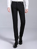זול מכנסיים ושורטים לגברים-בגדי ריקוד גברים עסקים / סגנון רחוב מידות גדולות כותנה רזה חליפות / צ'ינו מכנסיים אחיד / עבודה