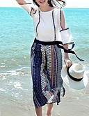 ieftine Costum Damă Două Bucăți-Pentru femei Boho / Chinoiserie Set - Plisat, Pantaloni Decupată