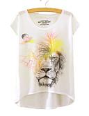 ieftine Tricou-Pentru femei Tricou Animal Imprimeu Leu