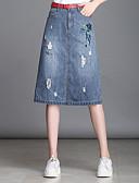 tanie Damska spódnica-Damskie Puszysta Jeans Linia A Spódnice - Wyjściowe Zwierzę Motyl