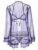 billige Sexy Kropper-Dame Sexy Uniformer og kinesiske kjoler Nattøy - Broderi, Trykt mønster / V-hals
