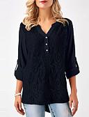 ieftine Tricou-Pentru femei Tricou De Bază - Mată Dantelă
