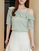 preiswerte Damen Kleider-Damen Solide Bluse