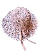 abordables Sombreros de mujer-Mujer Lazo Sombrero de Paja / Sombrero para el sol - Básico / Vacaciones Un Color