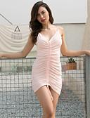 olcso Női ruhák-Női Parti / Klub Utcai sikk / Ízléses Vékony Bodycon Ruha Egyszínű Mini V-alakú / Sexy