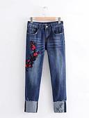 ieftine Pantaloni de Damă-Pentru femei Activ Blugi Pantaloni Floral