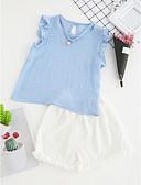 זול שמלות נשים-סט של בגדים פוליאסטר קיץ ללא שרוולים יומי אחיד בנות יום יומי פול