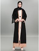 tanie Odzież arabska-Abaya Długie Damskie Moda miejska / Wyrafinowany styl Praca Kolorowy blok / Włóczki, Haft Poliester