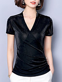 ieftine Tricou-Pentru femei În V Tricou Ieșire Mată