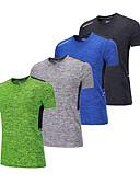 preiswerte Damen Leggings-BARBOK Herrn Rundhalsausschnitt Funktionsunterhemd - Grün, Blau, Grau Sport T-shirt Kurzarm Sportkleidung Leicht, Rasche Trocknung,