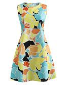 povoljno Ženske haljine-Žene Ulični šik Shift Haljina - Print, Cvjetni print Iznad koljena
