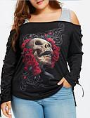 ieftine Tricou-Pentru femei De Pe Umăr Tricou Cranii