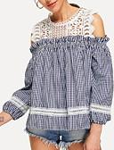 ieftine Tricou-tricou pentru femei - verificați gâtul rotund