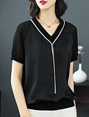 ieftine Bluză-Pentru femei În V Bluză Vintage / De Bază - Mată