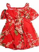 povoljno Haljine za djevojčice-Djeca Djevojčice Cvjetni print Kratkih rukava Haljina