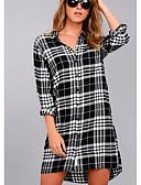 זול עליוניות לנשים-צווארון חולצה מעל הברך שמלה חולצה עבודה בגדי ריקוד נשים