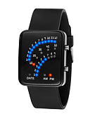 cheap Quartz Watches-Men's Women's Digital Watch Digital 30 m Water Resistant / Water Proof LCD 3D Cartoon Silicone Band Digital Cool Elegant Black / White / Blue - Black Red Blue One Year Battery Life