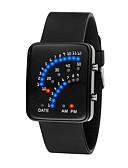 abordables Relojes de Hombre-Hombre / Mujer Reloj digital Chino Resistente al Agua / LCD / Dibujo 3D Silicona Banda Cool / Elegante Negro / Blanco / Azul