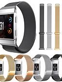 זול להקות Smartwatch-צפו בנד ל Fitbit ionic פיטביט לולאה בסגנון מילאנו מתכת אל חלד רצועת יד לספורט
