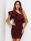 저렴한 여성 드레스-여성용 바디콘 드레스 - 솔리드 미니