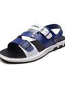 cheap Prom Dresses-Men's Comfort Shoes PU(Polyurethane) Summer Sandals Black / Brown / Blue / Outdoor