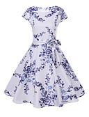 ieftine Pantaloni de Damă-Pentru femei Swing Rochie - Imprimeu, Floral Lungime Genunchi