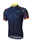 cheap Men's Underwear & Socks-Arsuxeo Men's Short Sleeve Cycling Jersey - Navy Bike Jersey, Reflective Strips, Sweat-wicking