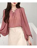 ieftine Tricou-Pentru femei Bluză Vintage - Mată / Geometric Franjuri Alb negru