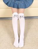 billige Undertøy og sokker til jenter-Barn Jente Aktiv Daglig Trykt mønster Netting Polyester Undertøy og strømper Hvit