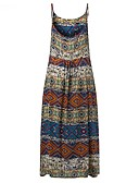 cheap Women's Swimwear & Bikinis-Women's Holiday / Beach Loose Swing Dress - Tribal Print Strap Summer Orange Lavender L XL XXL