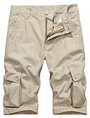 ieftine Pantaloni Bărbați si Pantaloni Scurți-Bărbați Militar / Șic Stradă Pantaloni Scurți / Pantaloni Sport Pantaloni Mată