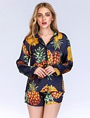 cheap Women's Two Piece Sets-Women's Shirt - Fruit, Print Skirt