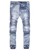 abordables Pantalones y Shorts de Hombre-Hombre Chic de Calle Vaqueros Pantalones - Un Color