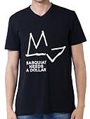 ieftine Maieu & Tricouri Bărbați-Bărbați Rotund Tricou Bumbac Șic Stradă - Geometric / Manșon scurt / Vară
