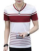 ieftine Maieu & Tricouri Bărbați-Bărbați În V Tricou De Bază - Dungi Imprimeu / Manșon scurt