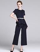 cheap Women's Pants & Leggings-Women's Business Loose Wide Leg Pants - Striped / Work